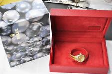 2000 Women's Rolex Datejust President 18k Diamond Bezel 79178 Tapestry Dial
