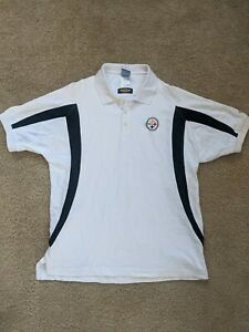 VINTAGE 1990s Pittsburgh Steelers NFL Reebok Polo Shirt Adult Men's Medium