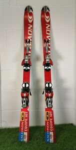 Salomon Skis Equipe 10 T L136 Kids Childrens with Bindings