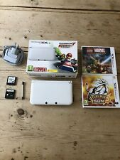 White Nintendo 3ds XL With Charger And 4 Games