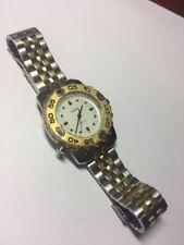 Men's Guess Watch Two Tone Quartz Indiglo Rotating Bezel Watch New Battery