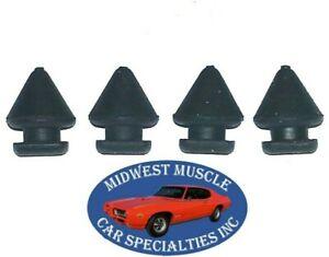 50-58 Ford Lincoln Mercury Glove Box Gas Tank Door Rubber Bumper Bumpers 4pcs CC