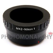 Anello adattatore OBIETTIVO ottiche M42 a vite su NIKON1 NIKON 1 J3 J4 S1 S2 AW1