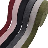 5M Solid Color Corduroy Ribbon Layering Webbing DIY Hair Bow Craft Accessories