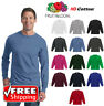 Fruit Of The Loom Long Sleeve T-Shirt HD Cotton Soft Color Plain Blank T 4930