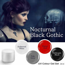 UV Farbgel Halloween Punk Rock Metal Nocturnal BLACK GOTHIC Color Gelset 20 ml