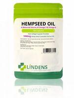 Hemp Seed Oil High Strength 1000mg 100 Capsules Omega 3 6 C SATIVA OIL UK