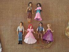 Polly Pocket Disney Princess Prince Lot Tangled Aladdin Little Mermaid S72
