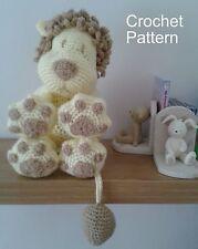 Crochet Pattern for Lion Pillow Toy Cushion Amigurumi by Peach.unicorn