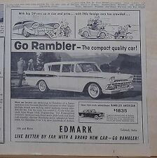 1959 newspaper ad for Rambler - American, Compact Quality Car, 100 inch wh.base