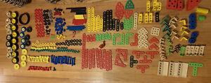 370+ Pieces Vintage 1990s MECCANO Erector Jr Young Engineer Building Parts EUC!