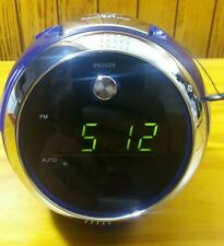 Jensen LED Projector Blue Alarm Clock AM FM Radio JCR-222