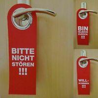 Türschild Türhänger Filz rot Bitte nicht stören Bin gleich zurück Willkommen