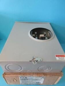 NEW EATON METER SOCKET UTRS23CCH 1- POSITION 200A 1-PHASE 3 WIRE 600V AC OUTDOOR