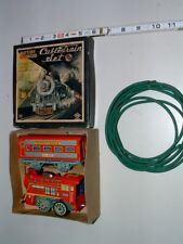 * 1950s Battery-Op Tin-Litho Cable Train Set with the Box