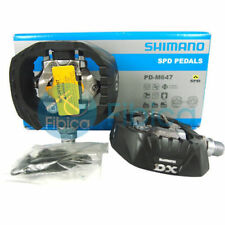 New Shimano PD-M647 DX SPD MTB BMX Downhill Freeride Clipless Pedals Cleats SH51