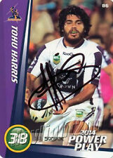 ✺Signed✺ 2014 MELBOURNE STORM NRL Card TOHU HARRIS Power Play