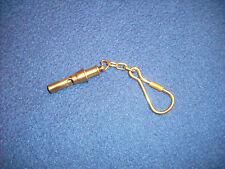 Schlüsselanhänger Messing poliert Schiffspfeife, 45 mm lang + Kette 35.838.00