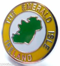 Ireland Irish Map Emerald Isle Flag Round Pin Badge - T319
