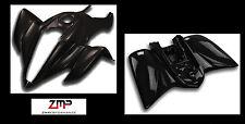 NEW YAMAHA YFM 350 RAPTOR BLACK PLASTIC FRONT AND REAR FENDER SET PLASTICS