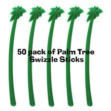 50 Pack of Tropical Palm Tree Swizzle Sticks/Tiki Stirs