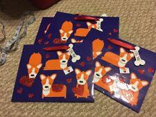 Set Of 5 Pembroke Welsh Corgi Dog Valentines Day Gift Bags