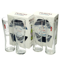 More details for 2 x double pack peroni nastro azzurro half pint glasses  brand new