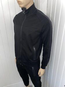 Hugo Boss Full Tracksuit Zipped Jacket & Pant Mens Black Bnwt Size large £119