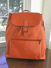 Coach Mens Bleecker 72132 Rainger Backback Glovetanned Orange Leather bag