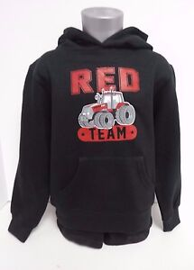 Case IH ''Red Team'' Toddler Black Pullover Hoodie - Size 2T & 5T