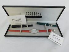 ECCLISSI STERLING SILVER WATCH NEW IN BOX EXTRA BANDS