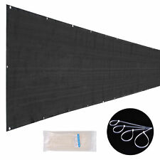 25x6 ft Mesh Privacy Fence Windscreen 180 gsm HDPE Fabric Slat Sunshade Cover