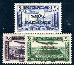 ALEXANDRETTE 1938 13,15,16 ** POSTFRISCH TADELLOS 65€(F4667