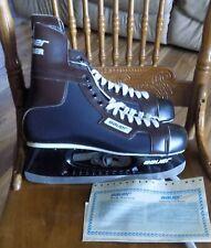 Brand New Still In The Nhl Box Vintage Bauer Hugger Ice Hockey Skates Mens Sz 12