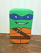 "TMNT Teenage Mutant Ninja Turtles Leonardo Blue 8"" Cube Plush, Rectangle, Stuff"