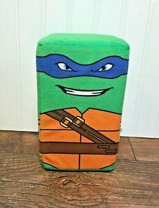 """TMNT Teenage Mutant Ninja Turtles Leonardo Blue 8"""" Cube Plush, Rectangle, Stuff"""