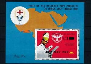 D118924 Biafra S/S MNH Pope Paul VI Visit Africa - Christmas 1969