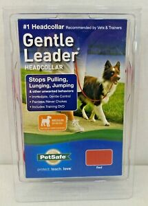 Gentle Leader Head Collar No Pulling Red Medium 25-60lbs New but no Instructions