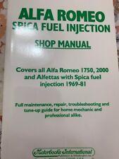 Alfa Romeo Spica Fuel Injection Shop Manual