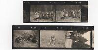 4/384 FOTO MINI ( 5  x ) STAHLHELM LAGERFEUER PFERD BAUMPFLANZUNG