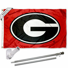 Georgia Bulldogs Red Flag Pole and Bracket Gift Package