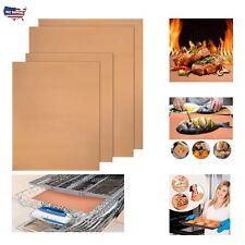 Copper Chef Grill Bake Mats BBQ Reusable Non Stick Pad Camping Mat 4 Pcs Home