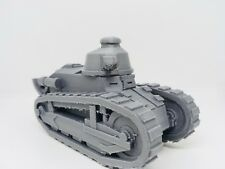 WW1 1/32 Scale Renault FT-17 with Trench Tail High Quality 3D Printed Tank