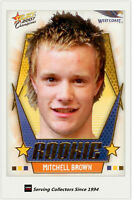2007 AFL Champions Draft Pick Rookie Card DR16 Mitchell Brown (West Coast)