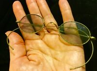 Antique Aluminum Wire Frame Oval Tinted  Spectacles Eye Steam Punk 1900's