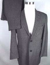 Tommy Hilfiger Mens Two Button Suit 40R 34x29 Gray Nailhead Pattern 100% Wool