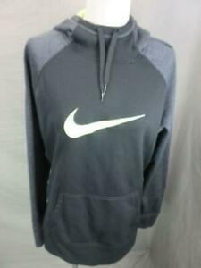 Nike Size L(14-16) Boys Black Athletic Therma-Fit w/Pockets Pullover Hoodie T520