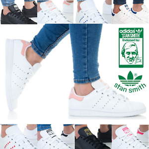 Adidas Stan Smith Authentic Womens Trainers Lace up Leather Casual Shoes