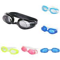 GI- 3Pcs/Set Adult Unisex Anti-fog Swimming Goggles Glasses Nose Clip Ear Plug S