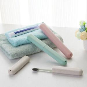 Portable toothbrush travel wash toothbrush storage box wheat straw Travelling